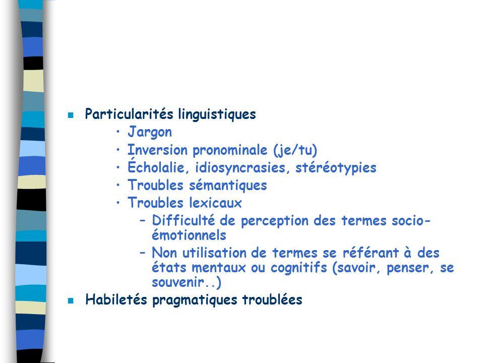 Particularités linguistiques
