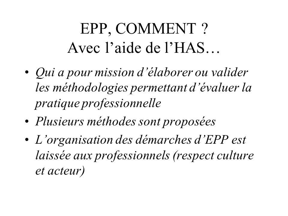 EPP, COMMENT Avec l'aide de l'HAS…