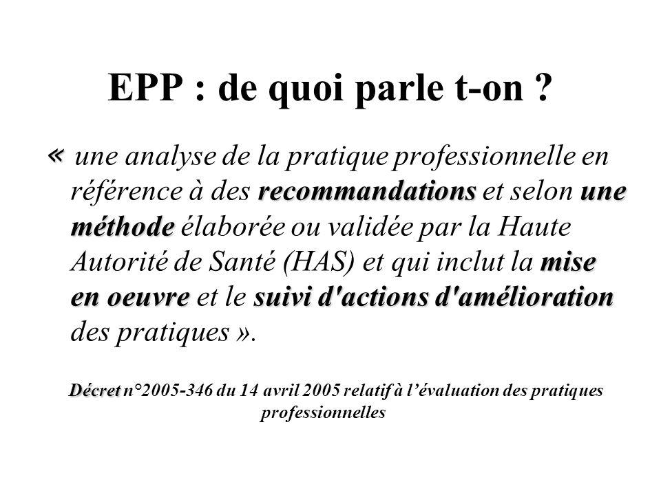EPP : de quoi parle t-on