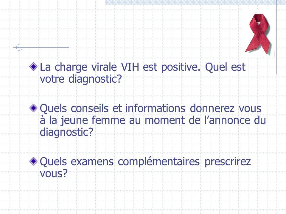La charge virale VIH est positive. Quel est votre diagnostic