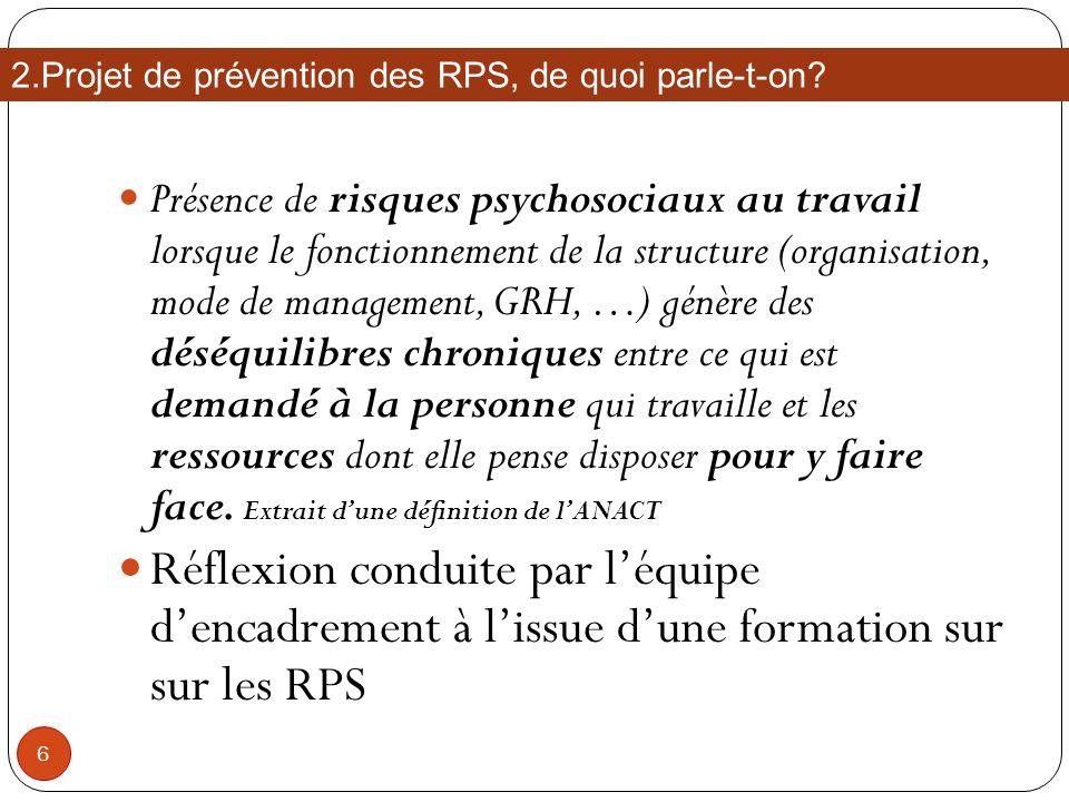 2.Projet de prévention des RPS, de quoi parle-t-on