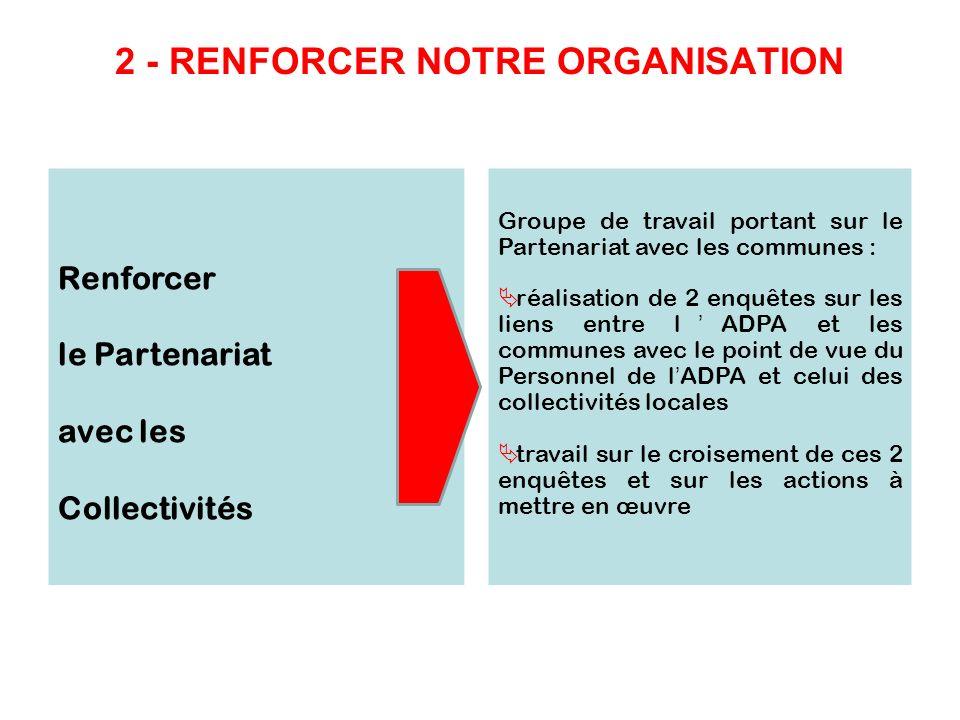 2 - RENFORCER NOTRE ORGANISATION