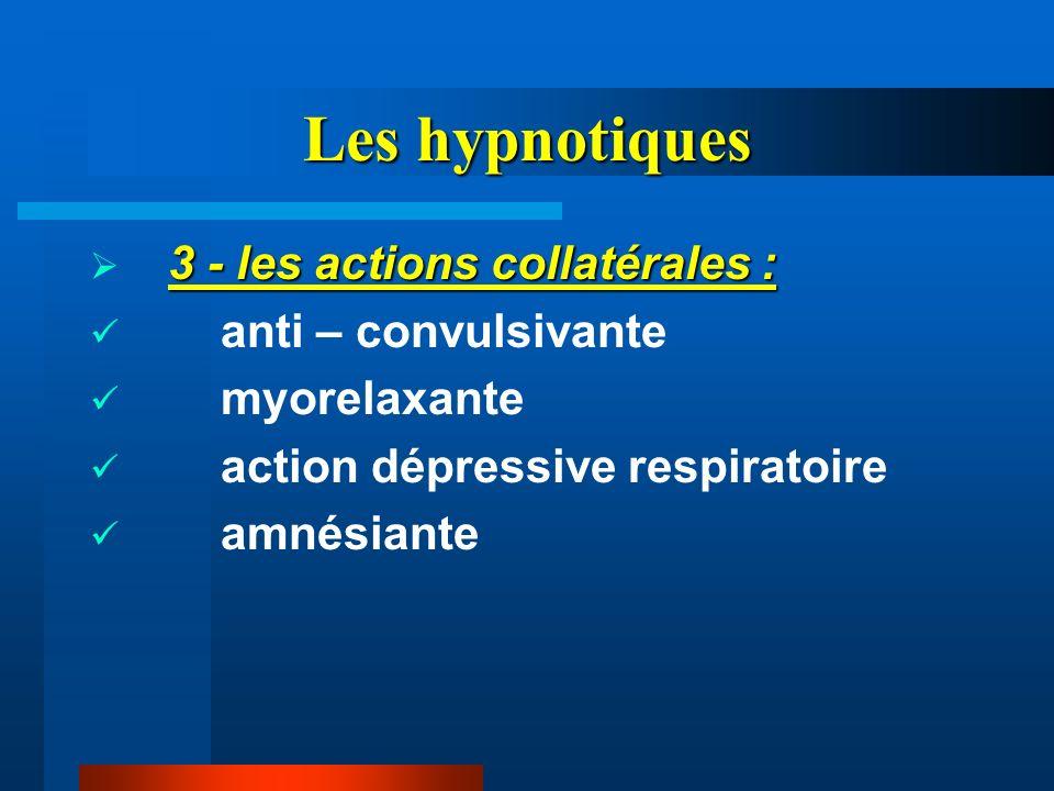 Les hypnotiques 3 - les actions collatérales : anti – convulsivante