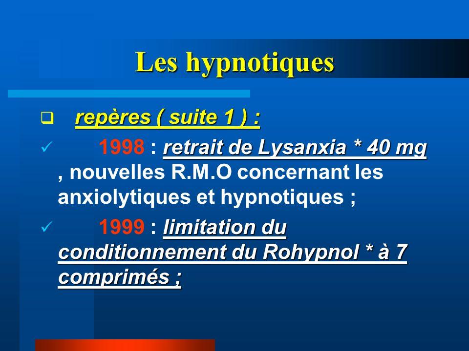 Les hypnotiques repères ( suite 1 ) :