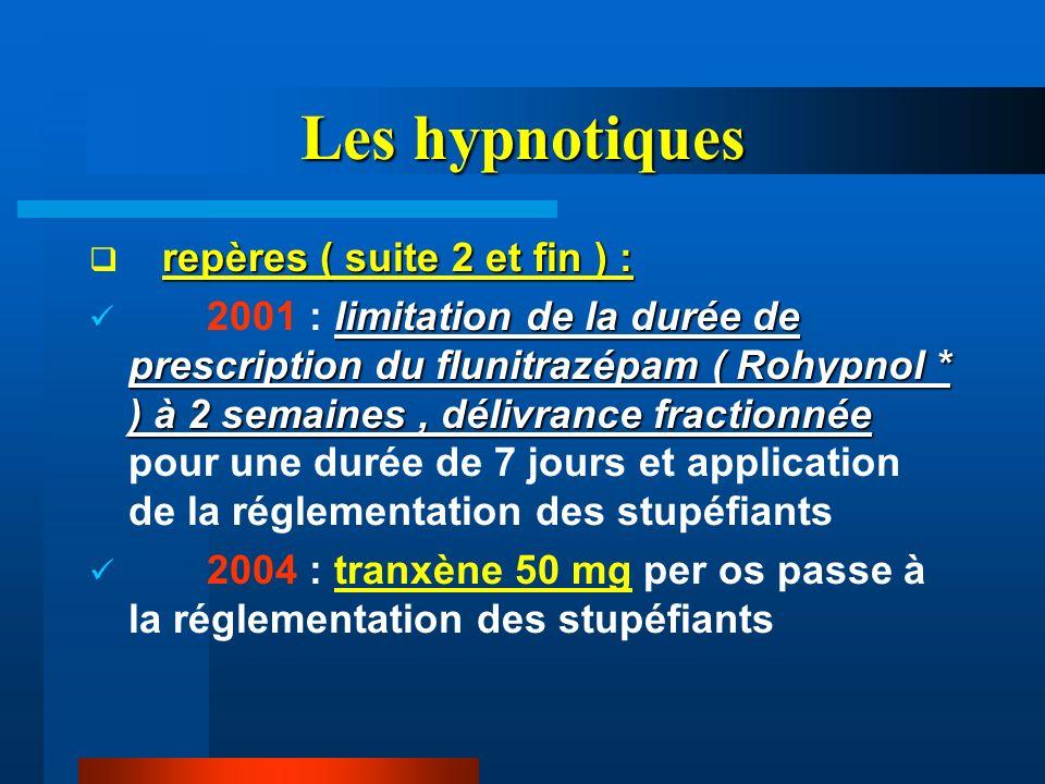 Les hypnotiques repères ( suite 2 et fin ) :