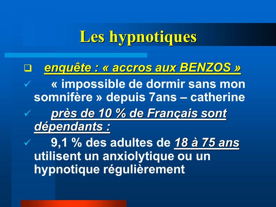 Les hypnotiques enquête : « accros aux BENZOS »