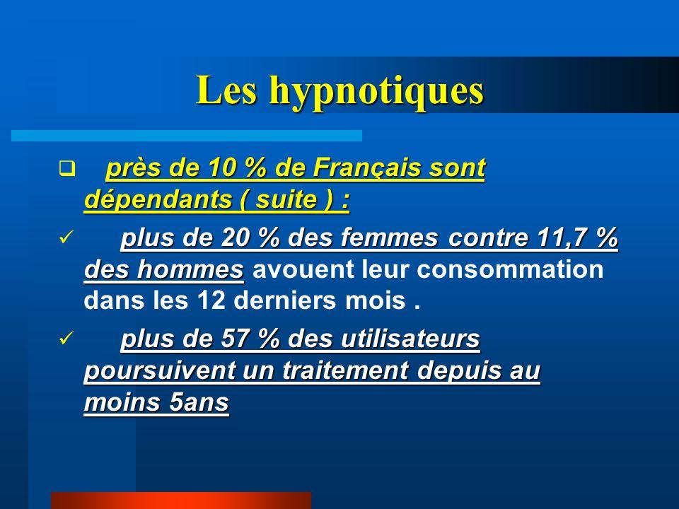 Les hypnotiques près de 10 % de Français sont dépendants ( suite ) :