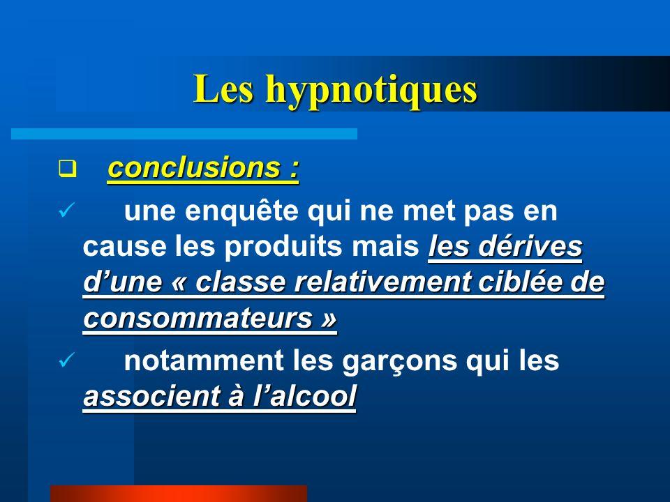 Les hypnotiques conclusions :