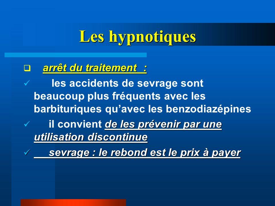 Les hypnotiques arrêt du traitement :