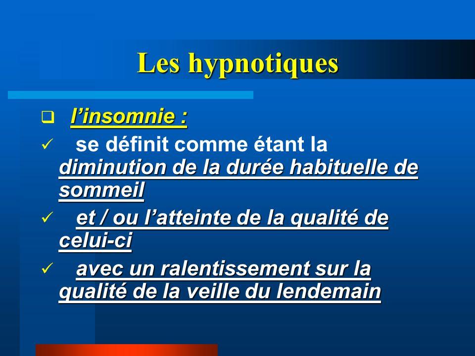 Les hypnotiques l'insomnie :