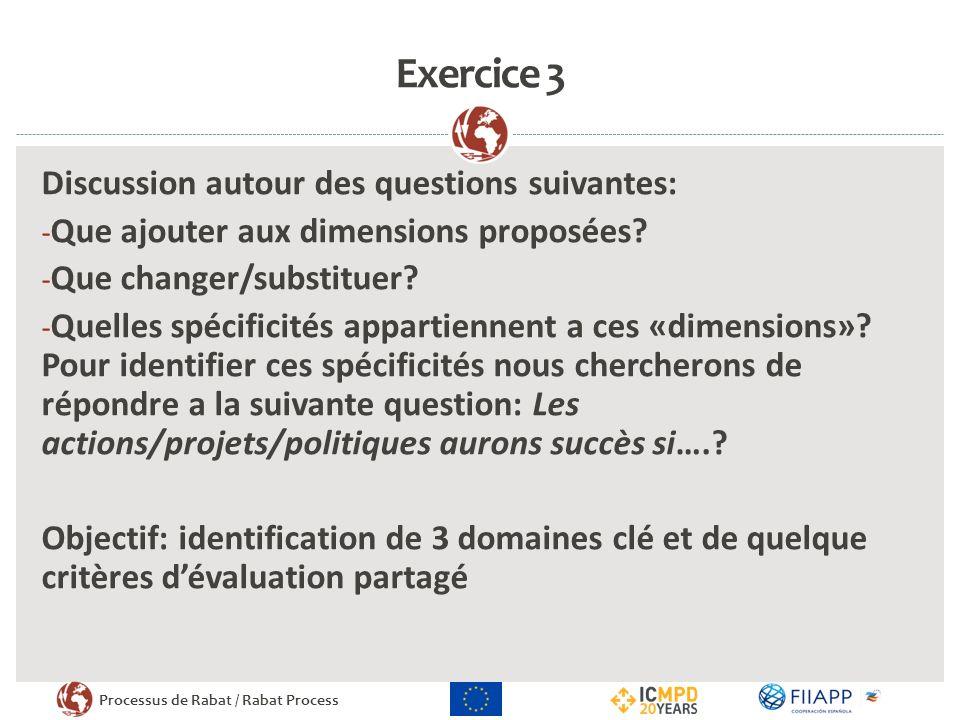 Exercice 3 Discussion autour des questions suivantes:
