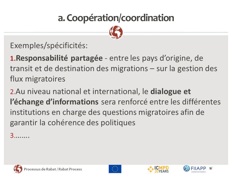 a. Coopération/coordination
