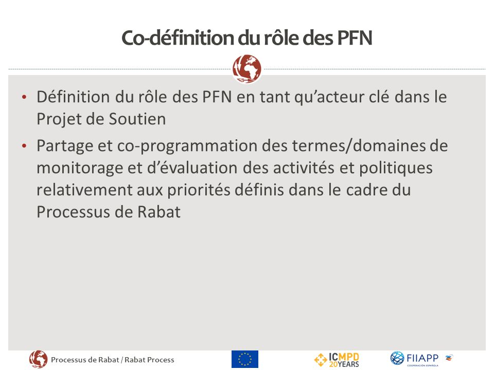 Co-définition du rôle des PFN