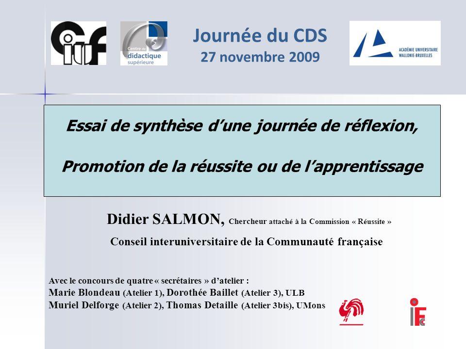 Journée du CDS 27 novembre 2009
