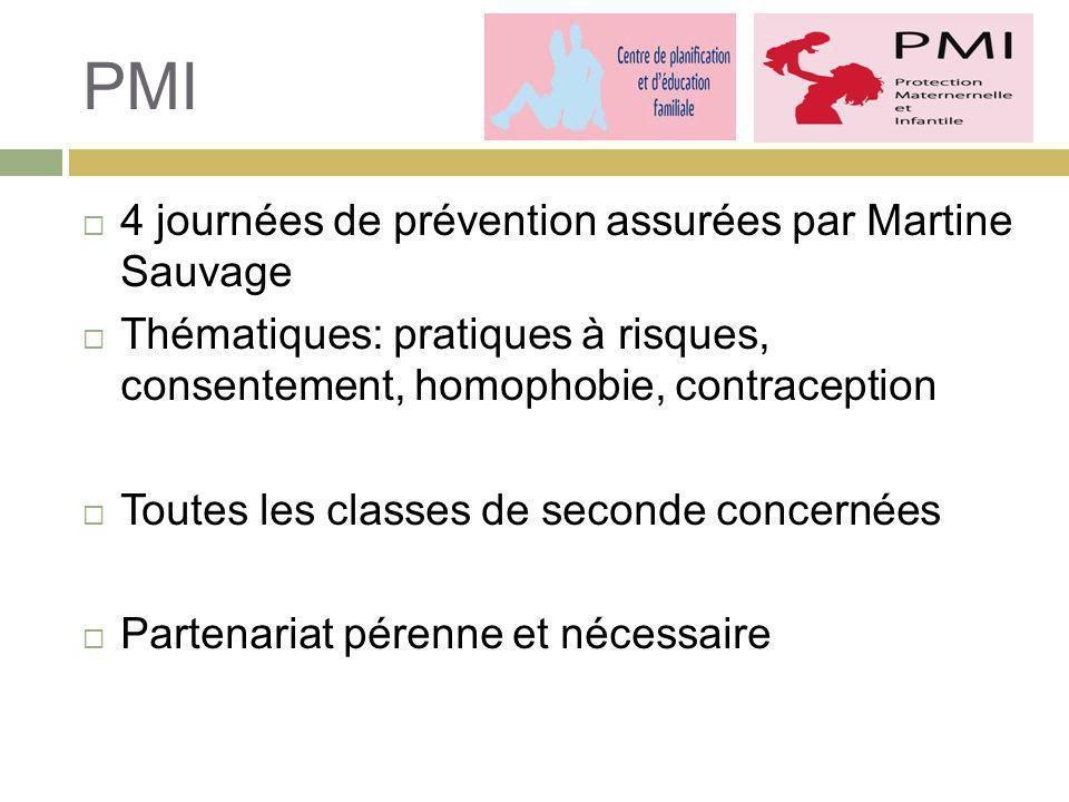 PMI 4 journées de prévention assurées par Martine Sauvage