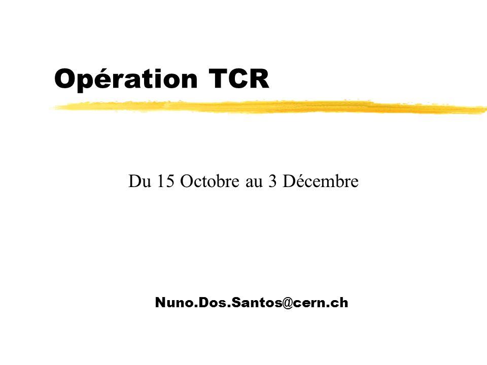 Opération TCR Du 15 Octobre au 3 Décembre Nuno.Dos.Santos@cern.ch