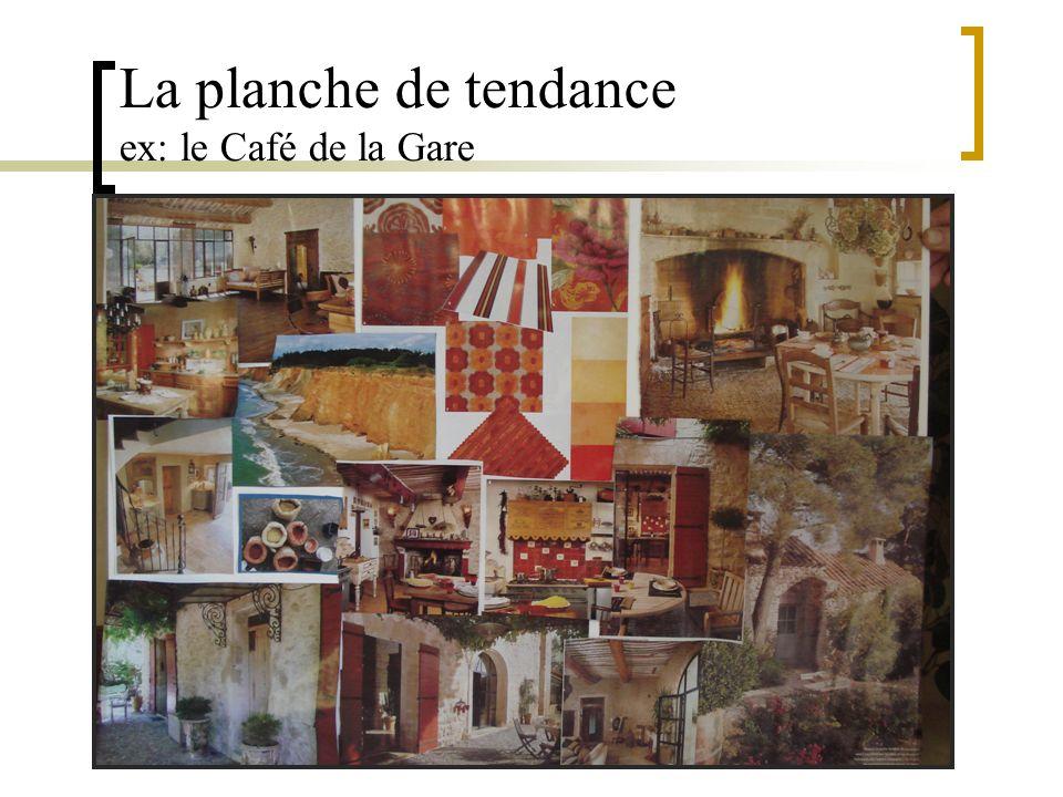 La planche de tendance ex: le Café de la Gare