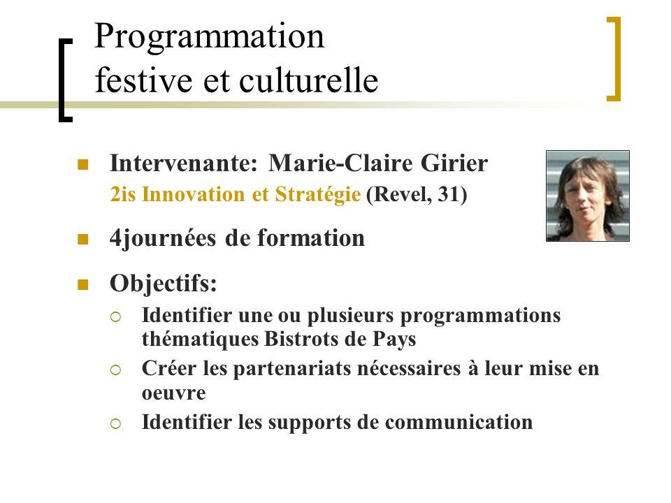 Programmation festive et culturelle