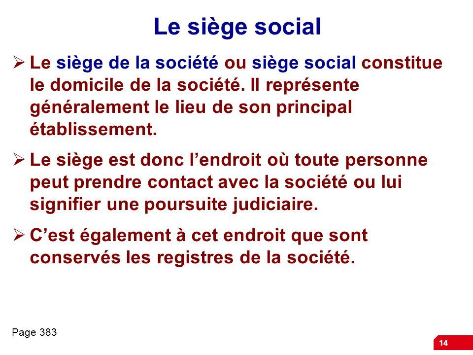 Le siège social