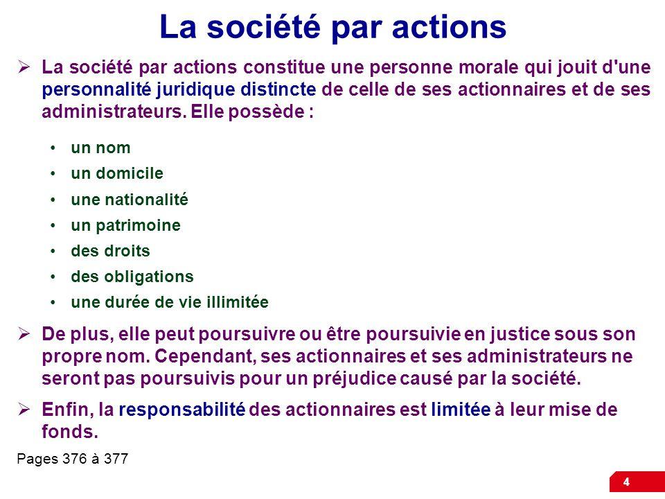 La société par actions