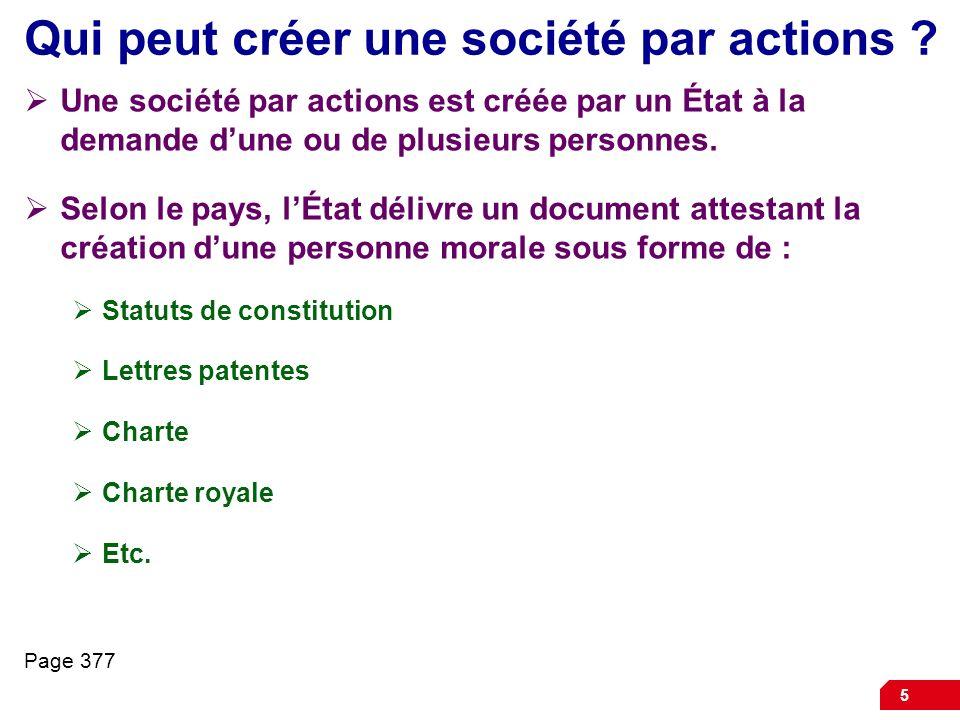 Qui peut créer une société par actions