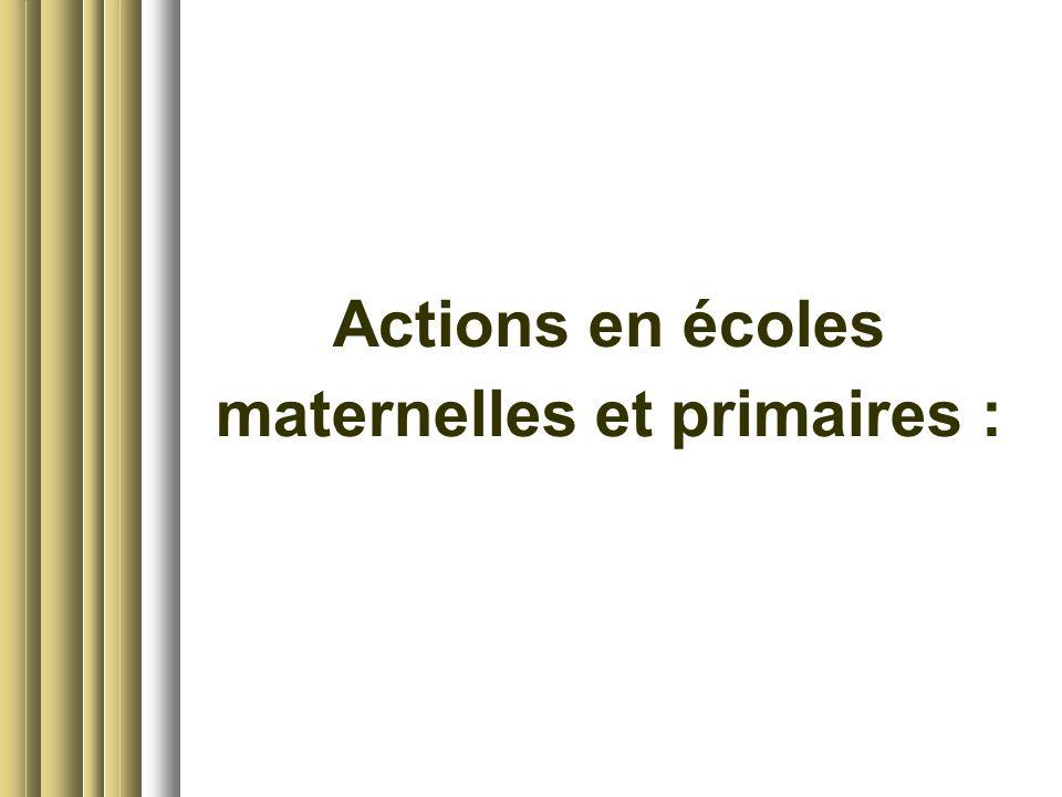 maternelles et primaires :