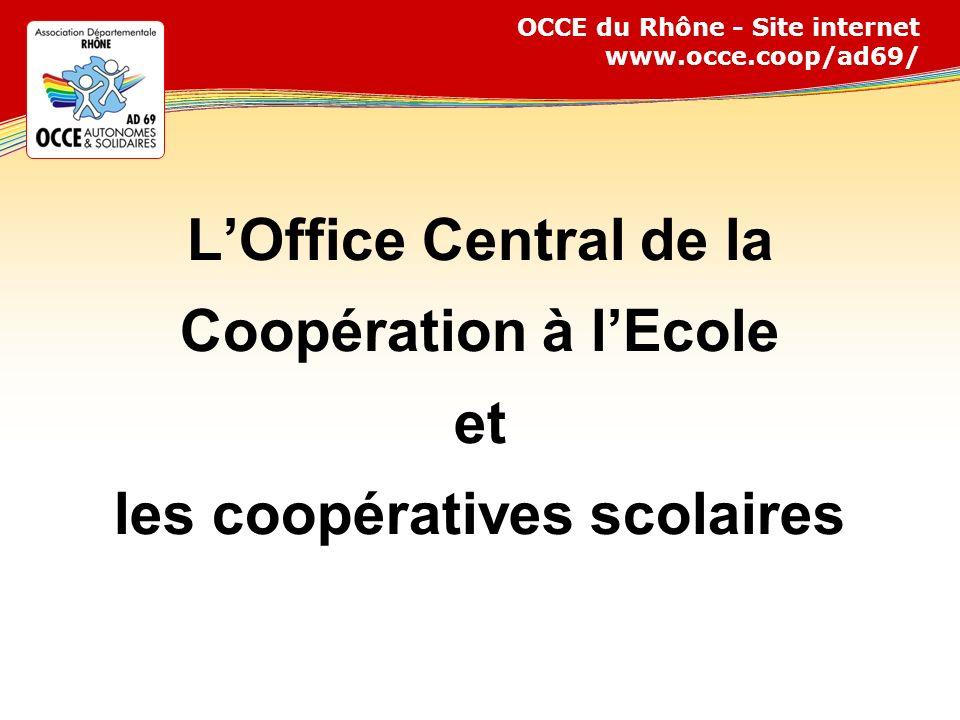 L'Office Central de la Coopération à l'Ecole et les coopératives scolaires