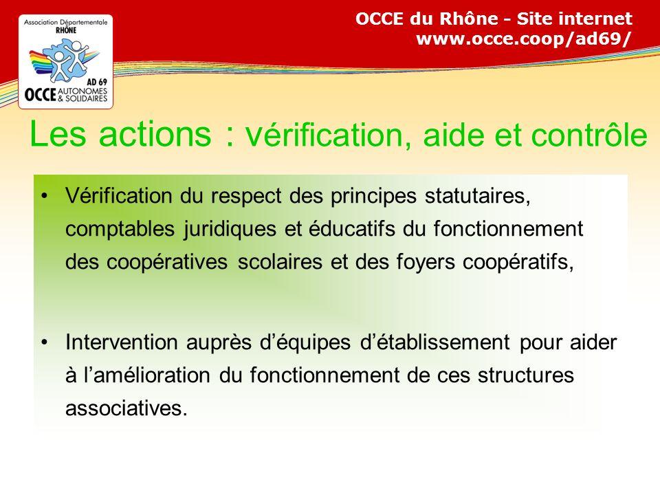 Les actions : vérification, aide et contrôle