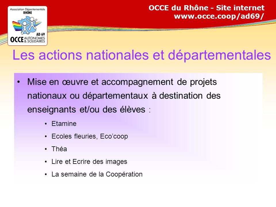 Les actions nationales et départementales