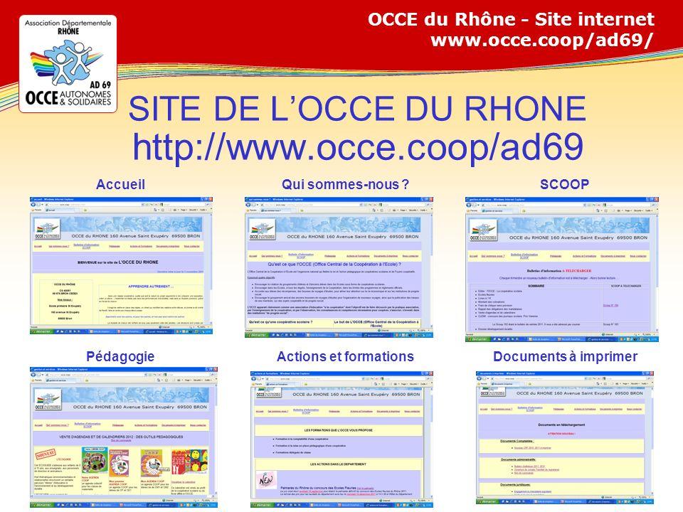 SITE DE L'OCCE DU RHONE http://www.occe.coop/ad69