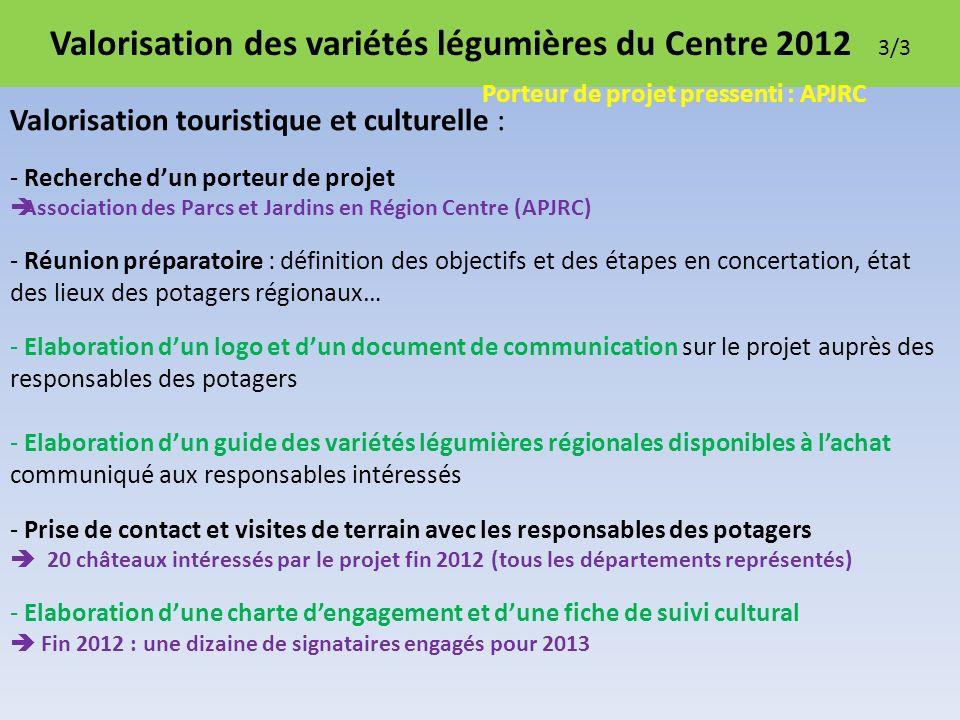 Valorisation des variétés légumières du Centre 2012 3/3