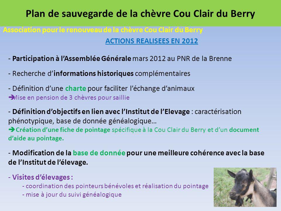 Plan de sauvegarde de la chèvre Cou Clair du Berry