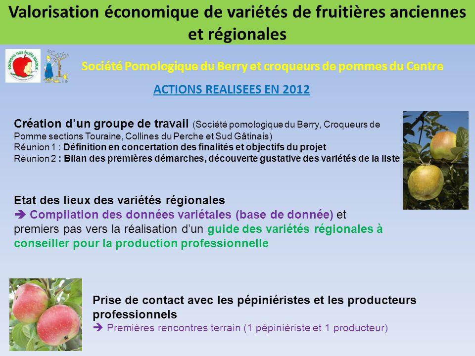 Valorisation économique de variétés de fruitières anciennes et régionales