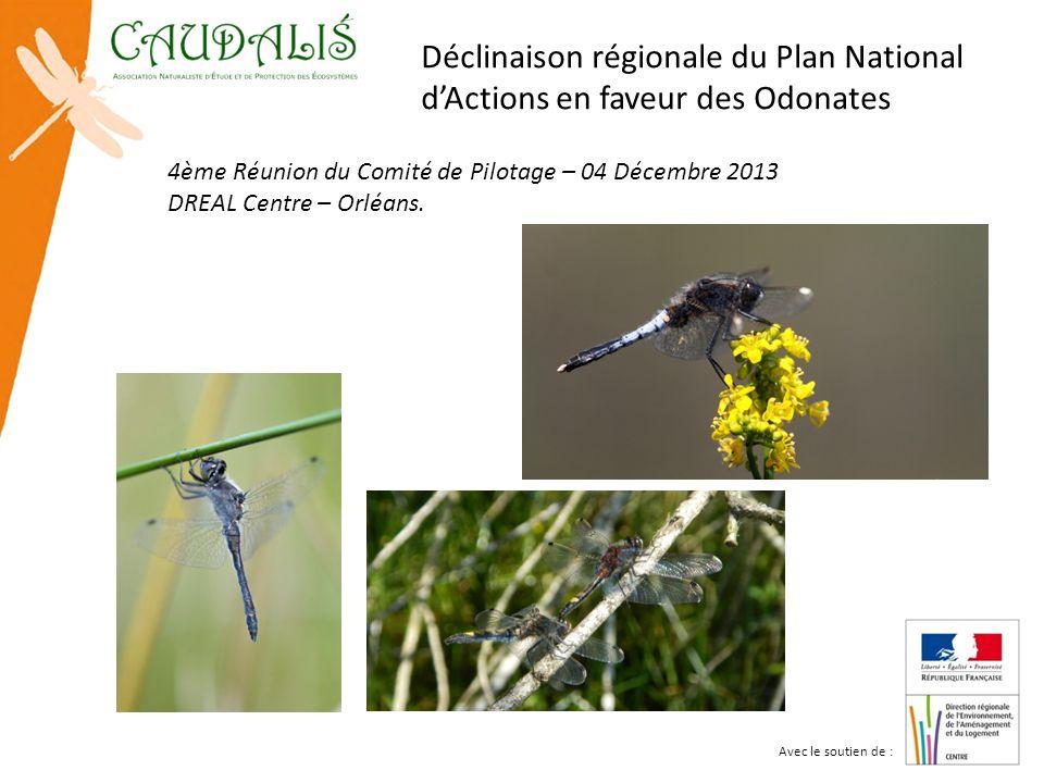 Déclinaison régionale du Plan National d'Actions en faveur des Odonates