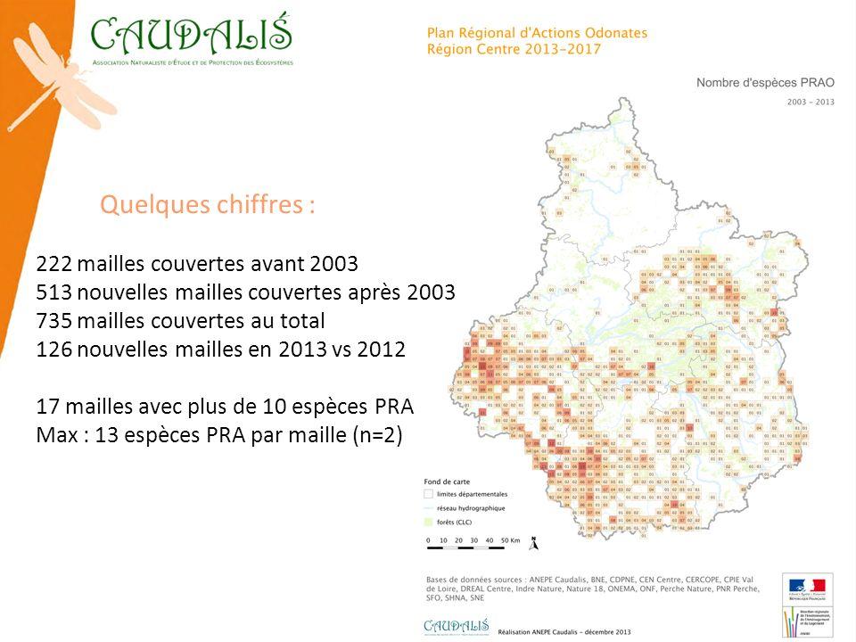 Quelques chiffres : 222 mailles couvertes avant 2003