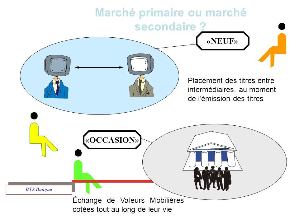 Marché primaire ou marché secondaire