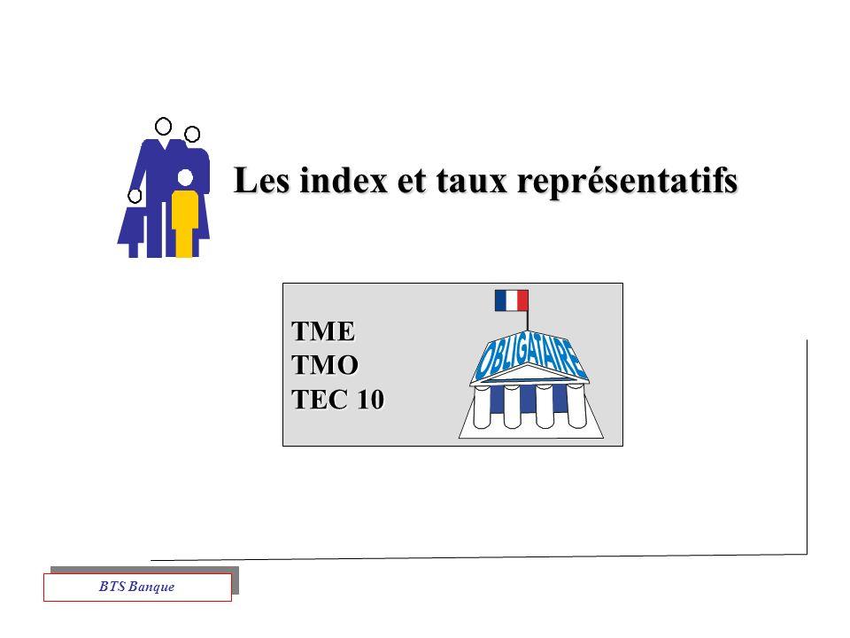 Les index et taux représentatifs