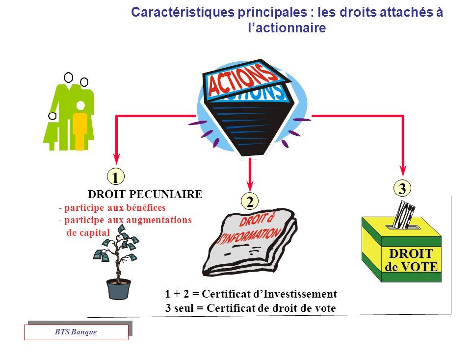 3 2 Caractéristiques principales : les droits attachés à l'actionnaire