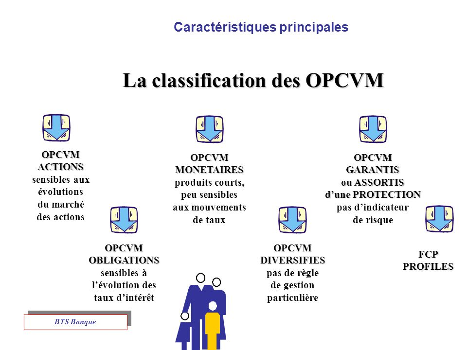 Caractéristiques principales La classification des OPCVM