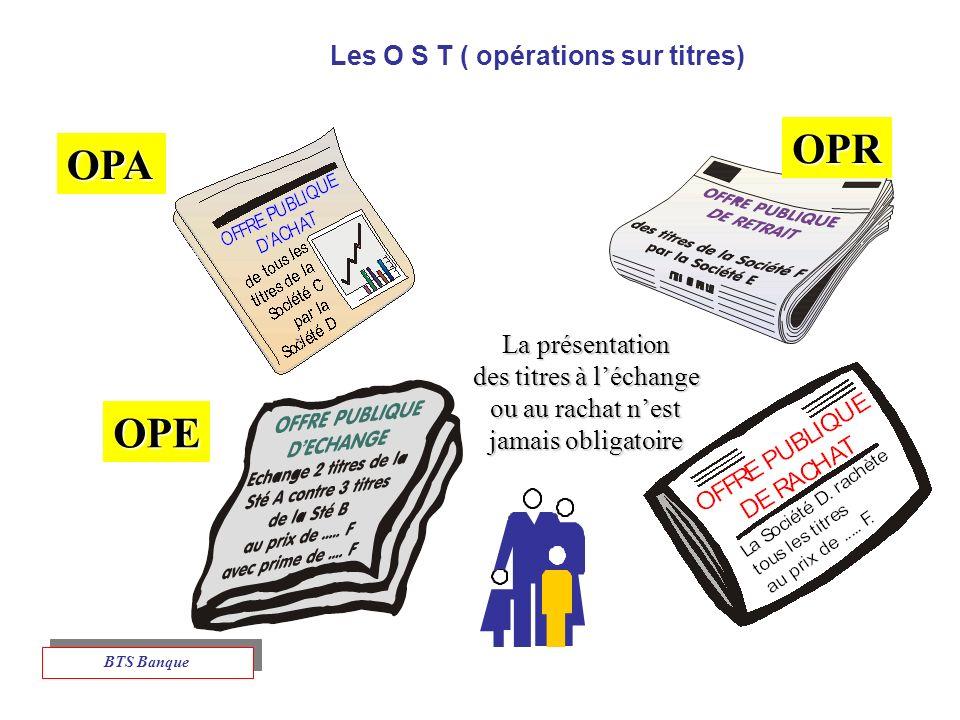 Les O S T ( opérations sur titres)