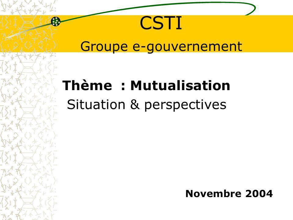 CSTI Groupe e-gouvernement
