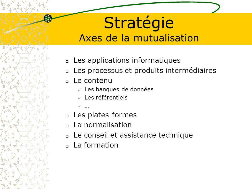 Stratégie Axes de la mutualisation