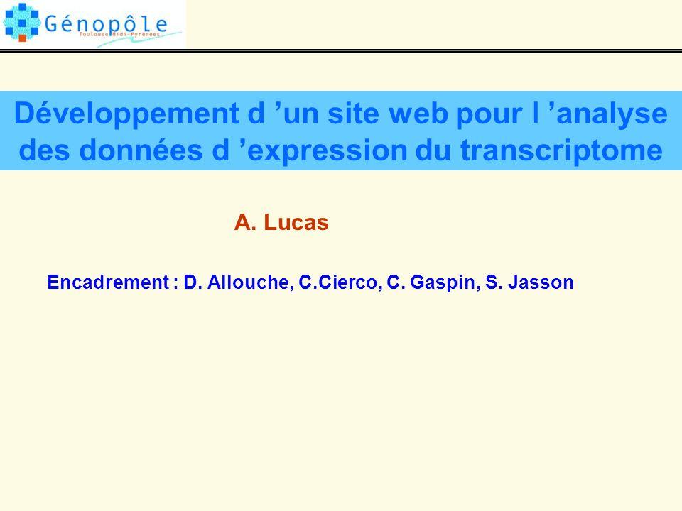 Développement d 'un site web pour l 'analyse des données d 'expression du transcriptome