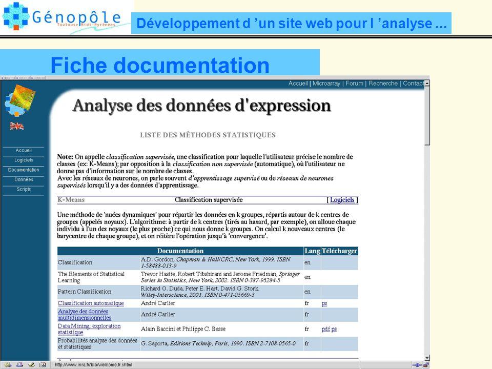 Développement d 'un site web pour l 'analyse ...