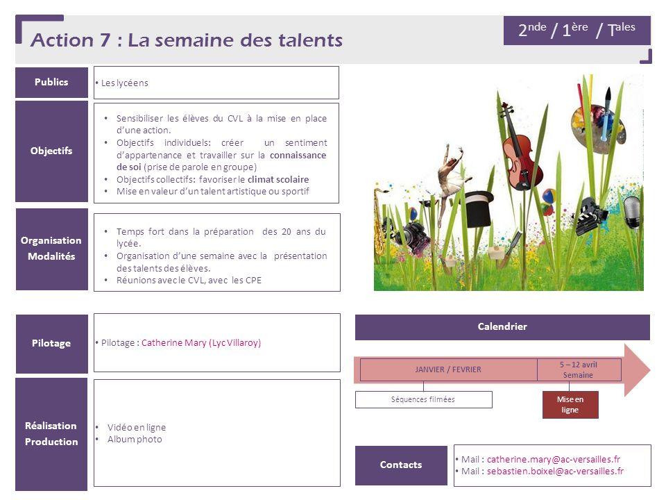 Action 7 : La semaine des talents