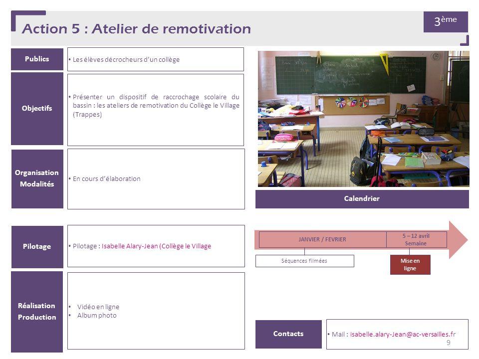 Action 5 : Atelier de remotivation