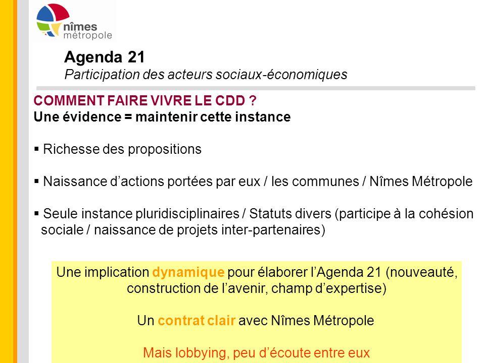 Agenda 21 Participation des acteurs sociaux-économiques
