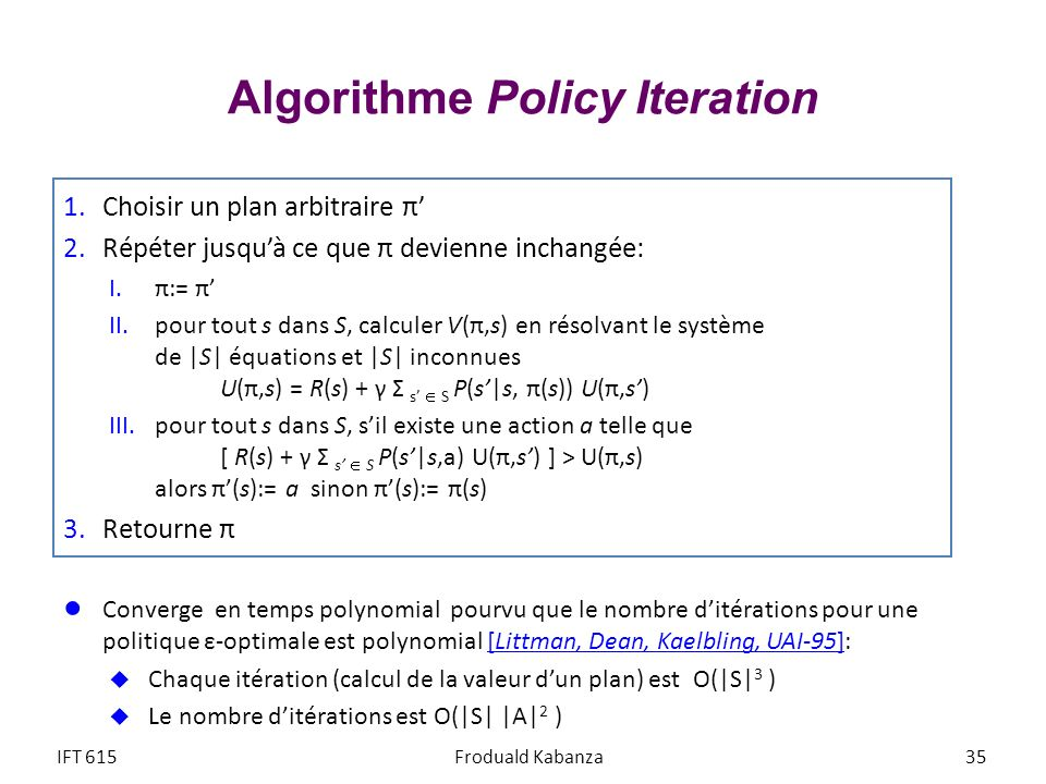 Algorithme Policy Iteration