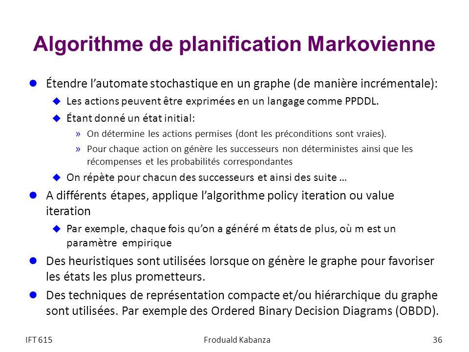 Algorithme de planification Markovienne