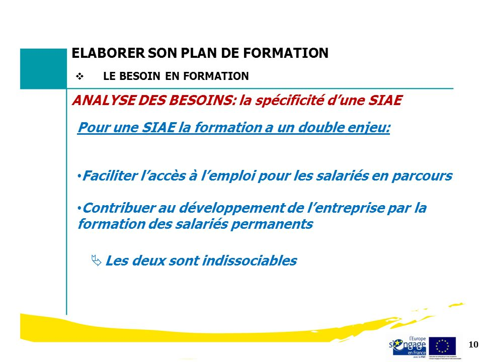 ELABORER SON PLAN DE FORMATION